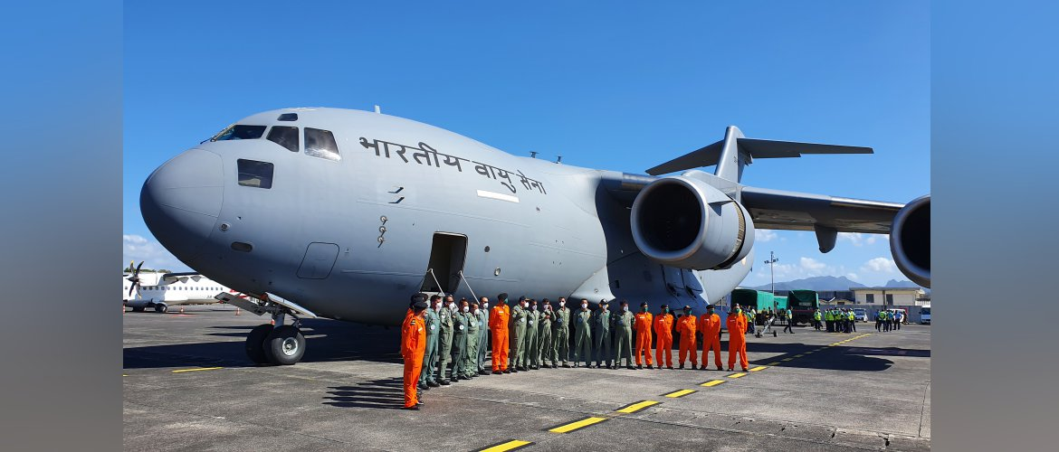 30 tonnes of specialized equipment &10-member Technical Response Team from 