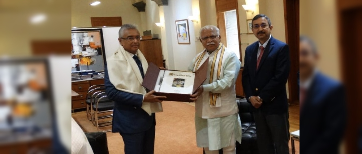 Chief Minister Haryana called on Prime Minister Pravind Kumar Jugnauth