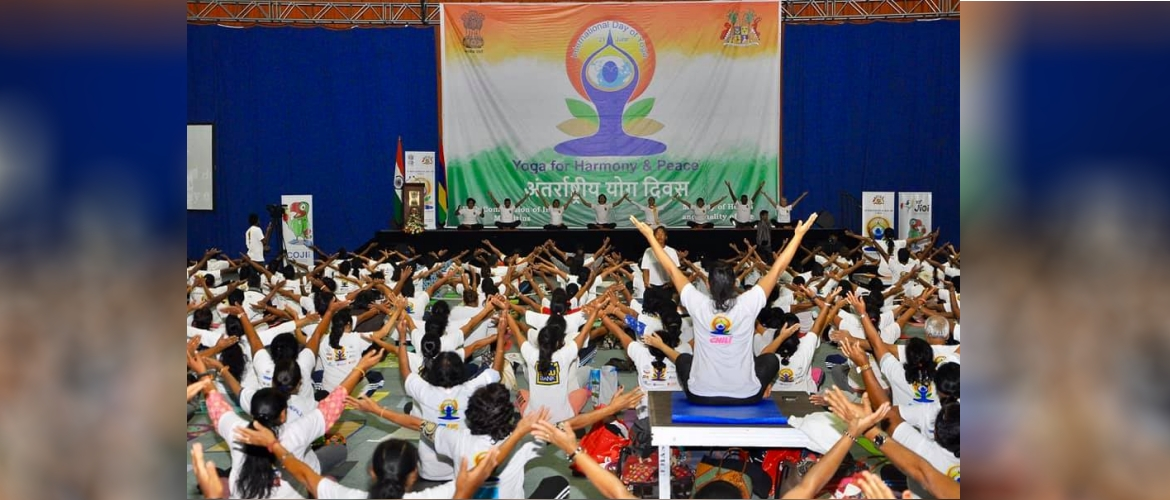 Celebration of International Day of Yoga in Mauritius on 21 June