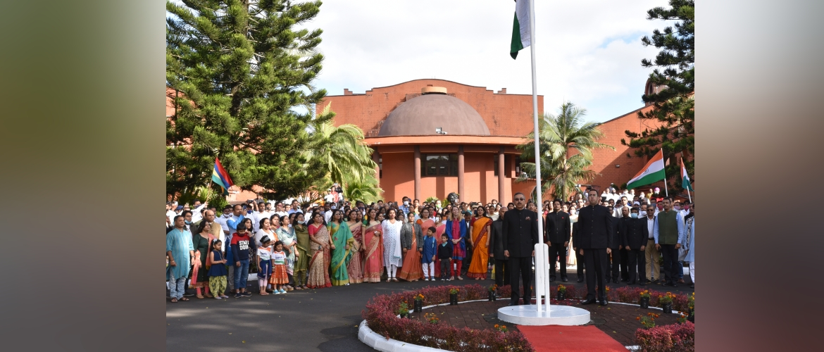 73rd Anniversary of India's Independence Day Flag Hoisting Ceremony