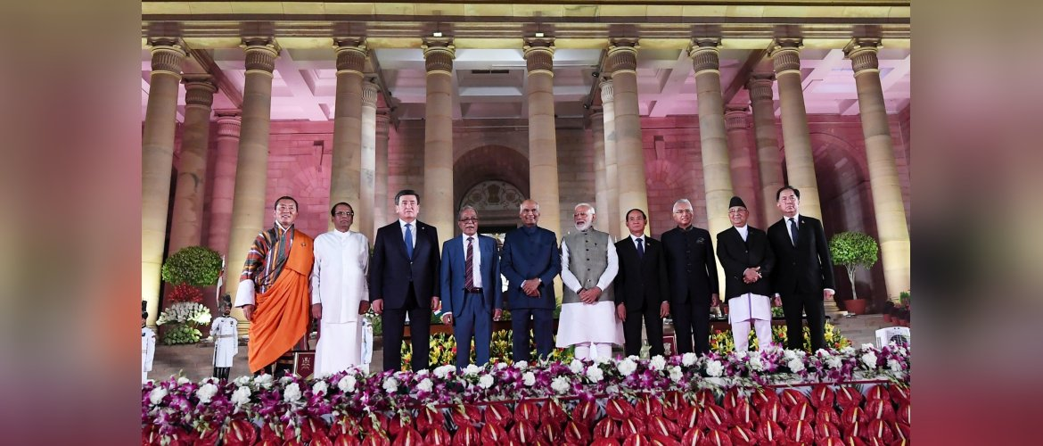 Prime Minister Modi with Heads of State/ Heads of Government on the occasion of swearing-in ceremony of the Prime Minister of India