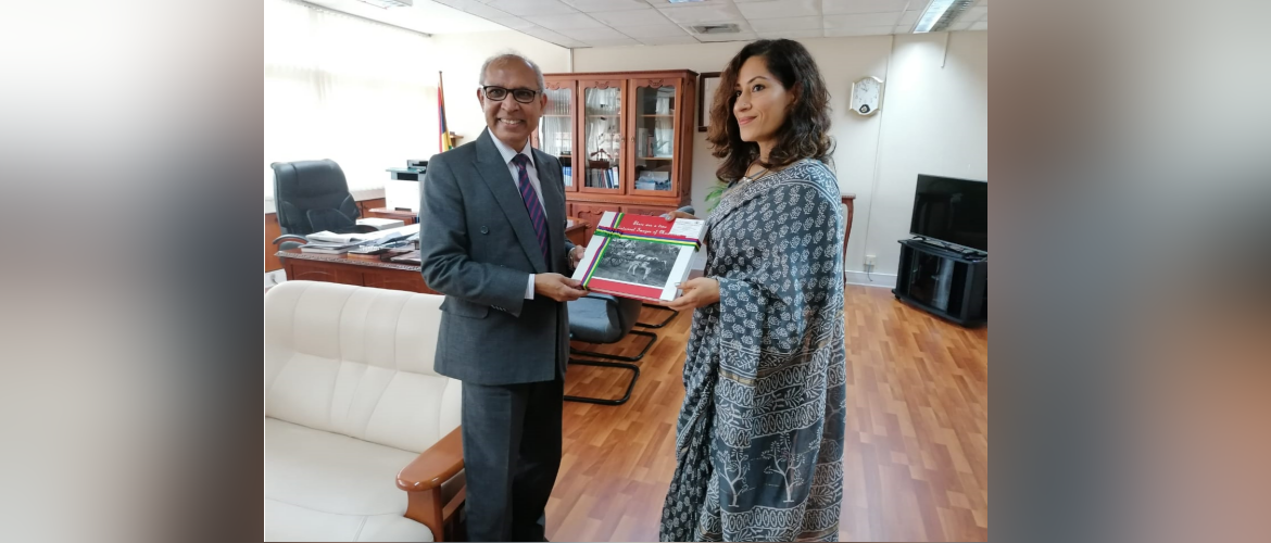 HC K. Nandini Singla called on VPM & Min of Local Government, Disaster & Risk Management, Hon. Dr. Husnoo & discussed enhancing collaboration in areas of disaster mgmt & local governance