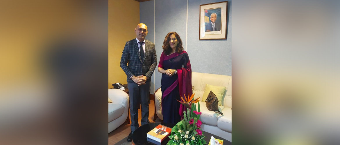 High Commissioner called on Hon. Dr. Kailesh Kumar Singh Jagutpal, Minister of Health and Wellness