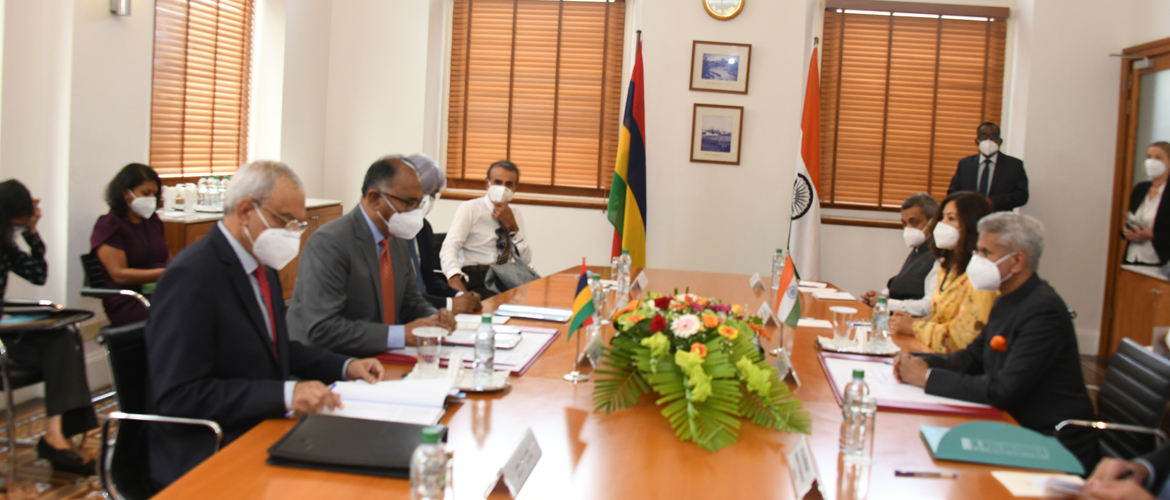 Visit of EAM Dr. S. Jaishankar to Mauritius (22-23 Feb 2021)<br> EAM Dr. S. Jaishankar met Hon. Alan Ganoo, Minister of Foreign Affairs, Regional Integration and International Trade & Minister for Land Transport and Light Rail
